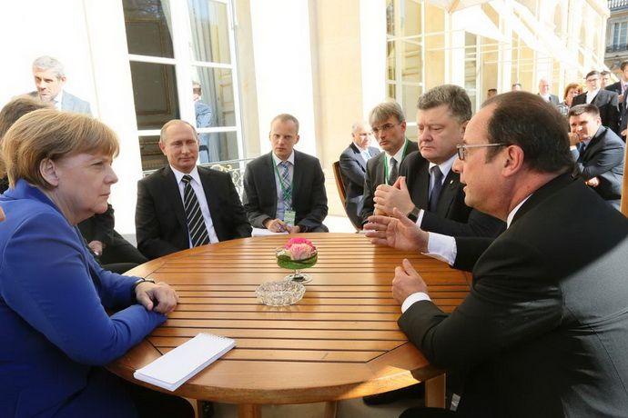 В Париже начались переговоры лидеров стран Нормандской четвёрки