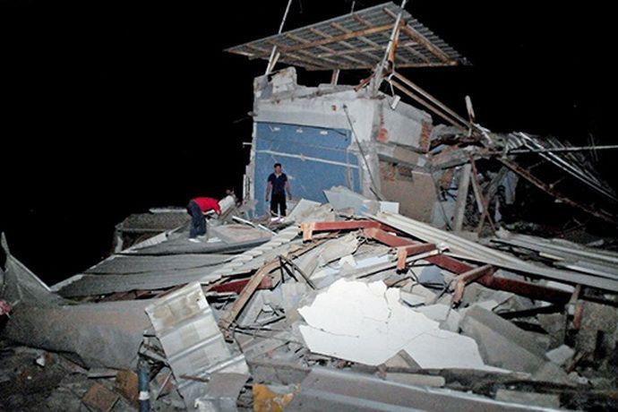 В Эквадоре произошло землетрясение: более 40 погибших