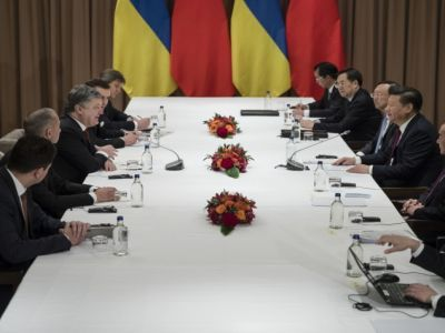 President of Ukraine had a meeting with the President of China