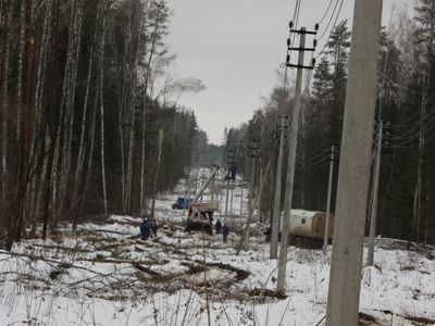 Энергетики Калуги оперативно восстановили  электроснабжение, нарушенное непогодой