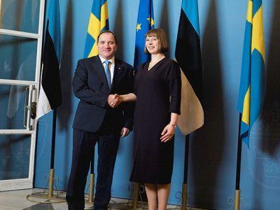 Estonian president visited the prime minister