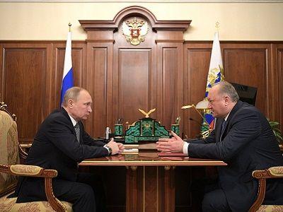 Владимир Путин провёл переговоры сгубернатором Камчатского края