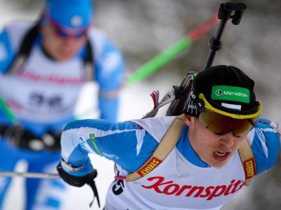 Тимур Махамбетов стал третьим в гонке преследования на Кубке IBU в Осрблье