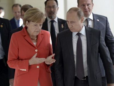 Владимир Путин провёл телефонные переговоры с канцлером Германии Ангелой Меркель