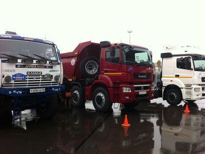 The new KAMAZ vehicles were presented and offered for test driving at St. Petersburg Arena Stadium