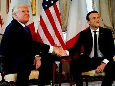U.S. President Donald Trump spoke today with President Emmanuel Macron