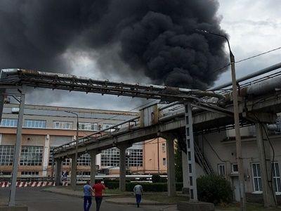 В Иркутске горел открытым пламенем авиазавод: пожар ликвидировали