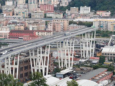 Число жертв обрушения моста в Генуе возросло до 35 человек