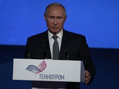 Владимир Путин оценил российские технологические новинки на международном форуме «Технопром-2018»