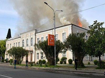 Сгоревшая в Сухуме русская школа непригодна для эксплуатации