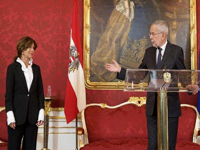 В Австрии впервые в истории правительство возглавила женщина