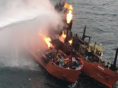There were 11 Russians Aboard a Tanker Burning in the Gulf of Oman