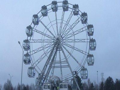 На Кузбассе посетители парка аттракционов пострадали при инциденте с колесом обозрения