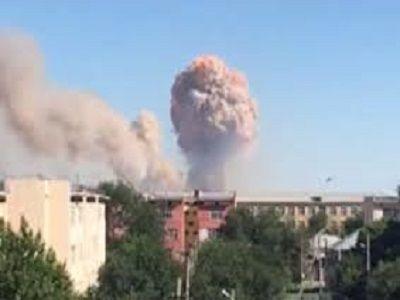 В Казахстане прогремел взрыв на арсенале воинской части