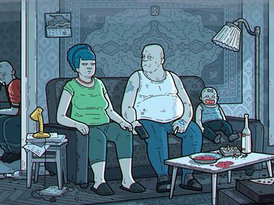 A Grim Russian Version of The Simpsons Has Appeared Online.