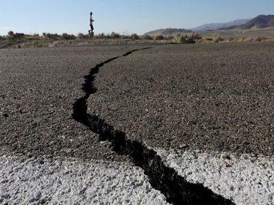 Разлом, образовавшийся в результате калифорнийского землетрясения, виден из космоса