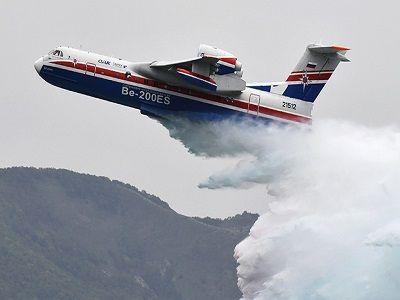 Для тушения лесных пожаров в Якутии прибудет самолёт-амфибия Бе-200