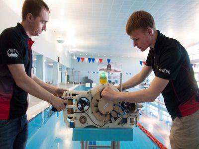 Team from Russia Took Second Place in Championship on Underwater Robotics in the USA