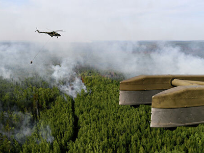 More than 900 Tons of Water were Discharged in a Day to Difficult Areas of Fires in Siberia