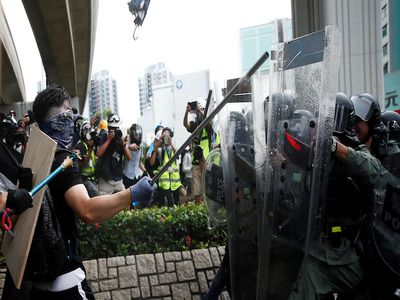 Hong Kong Police Report 266 Rioters Detained