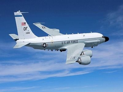 Four U.S. Air Force Reconnaissance Vessels Fly over Korean Peninsula
