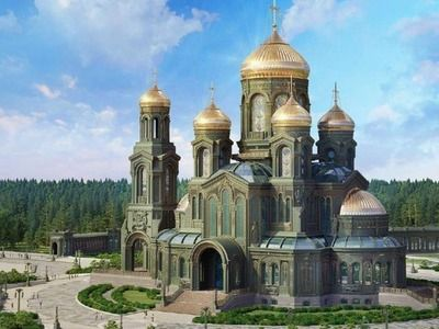 Ступени главного храма Вооруженных сил РФ сделают из немецких танков