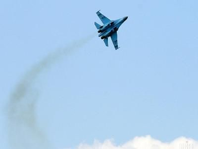 Russian Defense Ministry Reported of the Crash of the Fighter Su-27 over the Black Sea