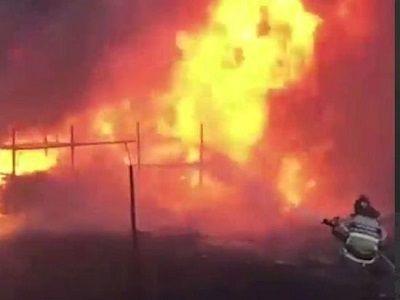 В Ростове-на-Дону природный пожар подошёл вплотную к «Ростов Арене»