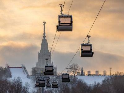 Канатная дорога в Москве приостановила перевозку пассажиров