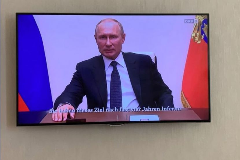 Russian President Addressed to the People of Austria on the Local Television