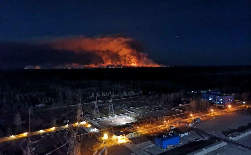 В зоне Чернобыльской АЭС вновь случился пожар