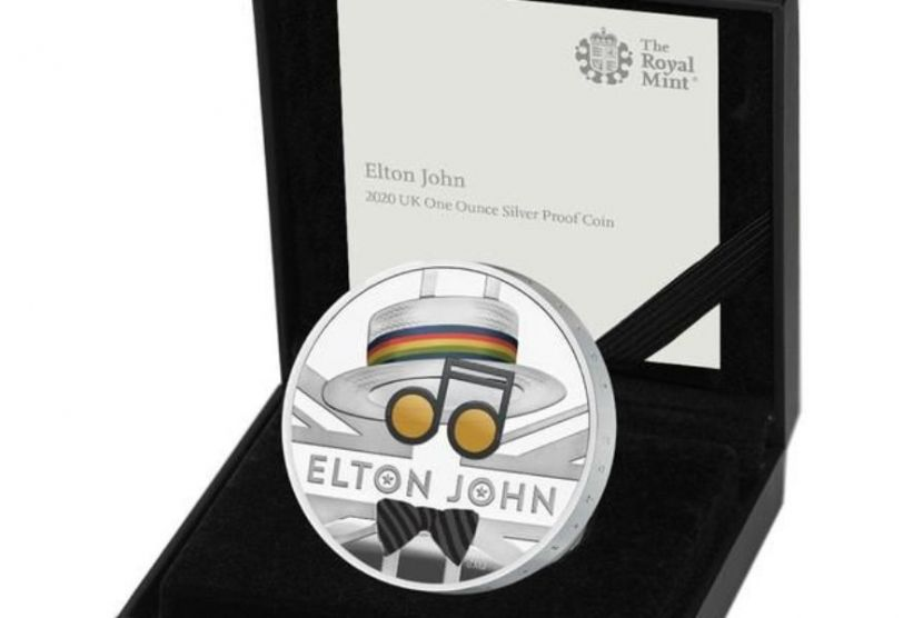 In Great Britain, a Commemorative Coin in Honour of Elton John Was Released
