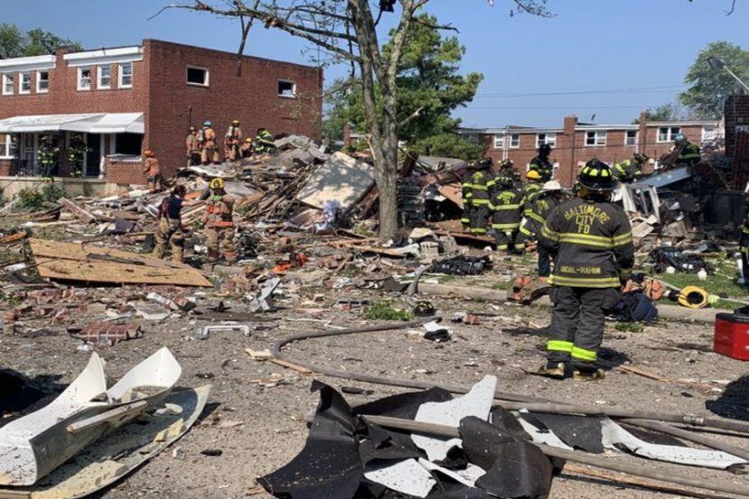 В США прогремел взрыв, снёсший три жилых дома
