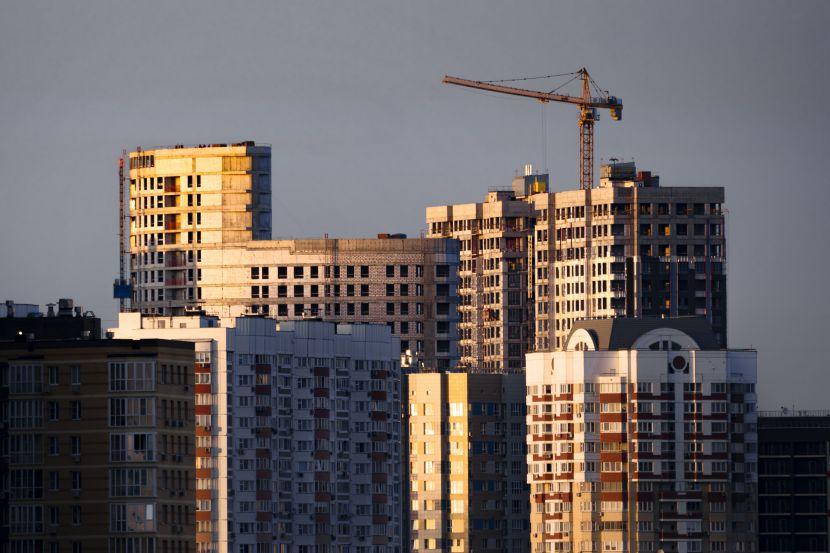 Строительство жилых домов.