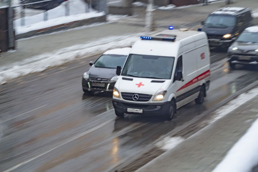 An ambulance car in Moscow