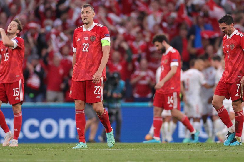 Сборная России по футболу после поражения от датчан