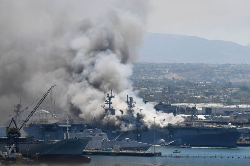 21 People Were Injured during a Fire on an American Warship